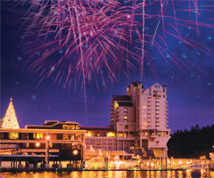 Coeur d'Alene Resort Holiday Lights