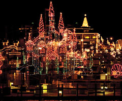 Coeur d'Alene Resort Holiday Light Show