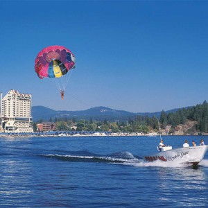 Daily parasailing in the summer... best lake views you will ever see