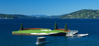 Coeur d'Alene Resort Golf Course - The Floating Green
