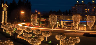 Holiday Light Show at The Coeur d'Alene Resort