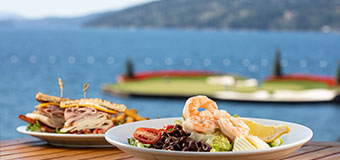 The Floating Green Restaurant at The Coeur d'Alene Resort Golf Course