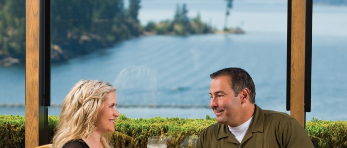 Dine overlooking Lake Coeur d'Alene at Beverly's