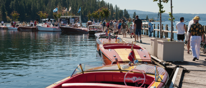 Join us for another year of vintage boat owners lining The Floating Boardwalk with beautifully restored, rebuilt and preserved classic vessels!