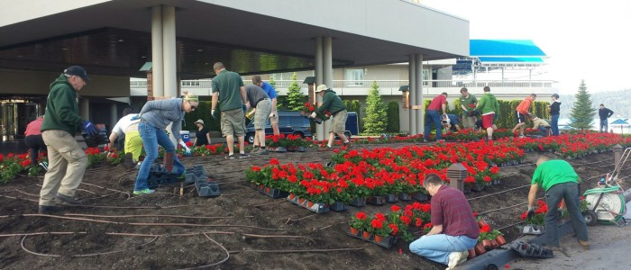 Roll out the red carpet! 2018 Geranium Planting Day is almost here!