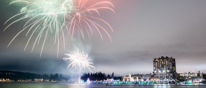 CDA Resort Exterior - NYE Fireworks & Lights (19)