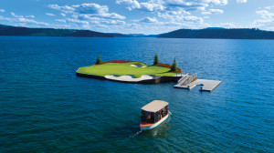 Golf Course - Floating Green with Boat