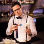 Bartender Justin Schorzman at Whispers