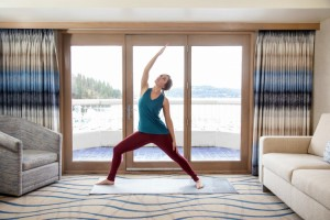 Treat yourself to serenity with a view in a Coeur d'Alene Resort Wellness Suite.